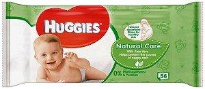 Huggies Бебешки мокри кърпички Natural Care 56 бр.
